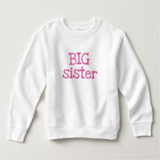 Pink Text Big Sister Sweatshirt