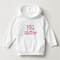 Pink Text Big Sister Tee Shirts