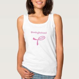 Pink text: Boobylicious! Tank Top