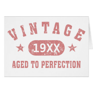 Pink Text Vintage Aged to Perfection Greeting Card