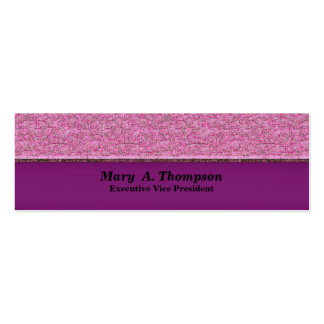 pink texture pack of skinny business cards