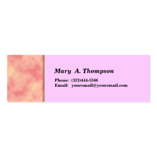 pink texture side border pack of skinny business cards