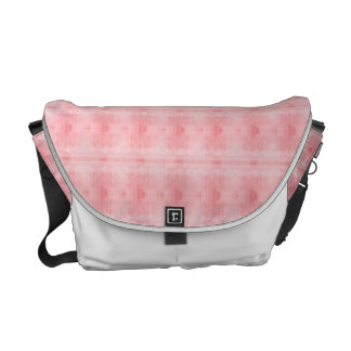 Pink Textured Pattern Courier Bag
