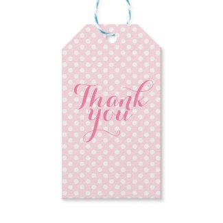 Pink thank you gift tags