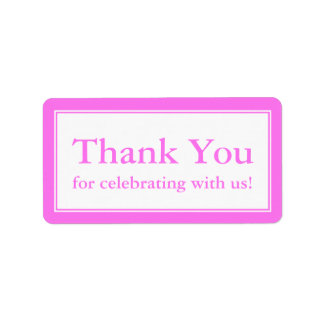Pink Thank You Stickers or Wedding Gift Labels