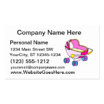 Pink theme baby carriage graphic business card template