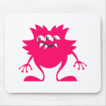 Pink Three-Eye Alien Mouse Pad