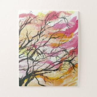 """Pink Through The Trees 11"""" x 14"""" Designer Puzzle"""
