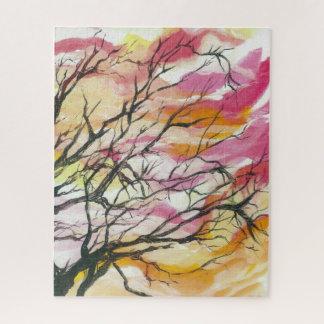 """Pink Through The Trees,  16"""" x 20"""" Designer Puzzle"""