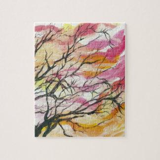 """Pink Through The Trees 8"""" x 10"""" Designer Puzzle"""