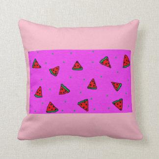 pink throw cushion watermelon design