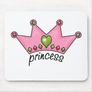 Pink Tiara Princess Mouse Pads