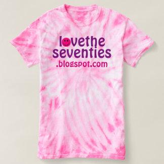 Pink Tie-Dye Love The Seventies Retro T-shirt Tee