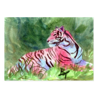 Pink Tiger aceo Art Card Pack Of Chubby Business Cards