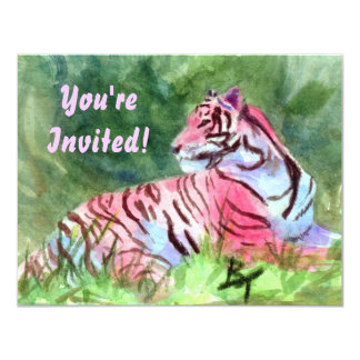 Pink Tiger aceo Invite