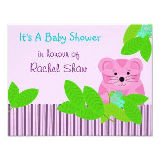Pink Tiger Baby Shower Invitation