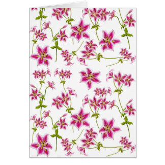 Pink Tiger Lily Card