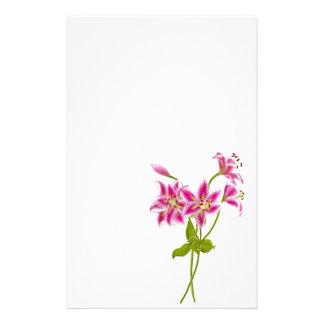 Pink Tiger Lily Stationery