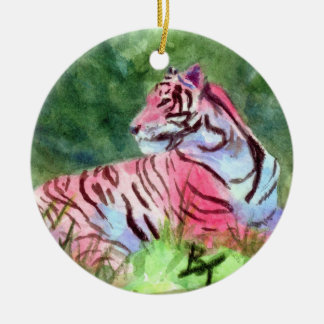 Pink Tiger Ornament