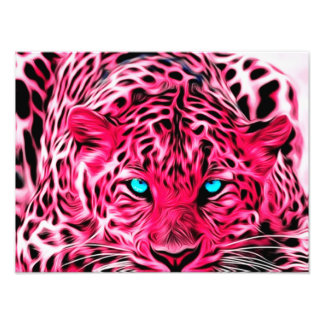 Pink Tiger Photographic Print