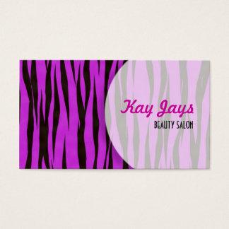 Pink Tiger Print Business Card