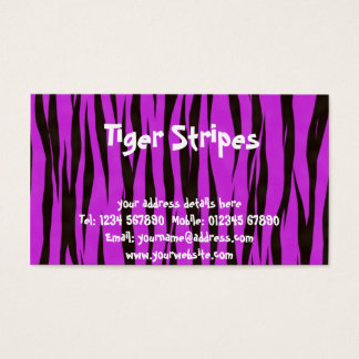 Pink tiger stripes business card