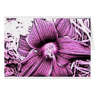 Pink Tigerlilly Greeting Card