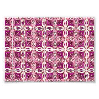 Pink Tile Design 2 - Hearts Photo