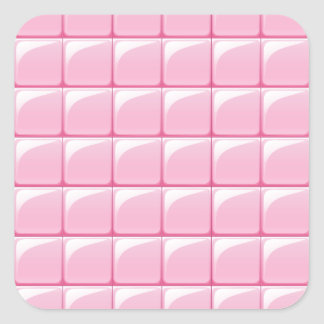 Pink tile texture square sticker