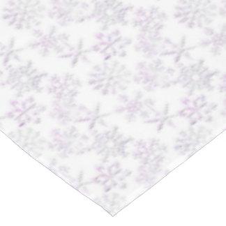 Pink Tint Christmas snowflake tablecloth