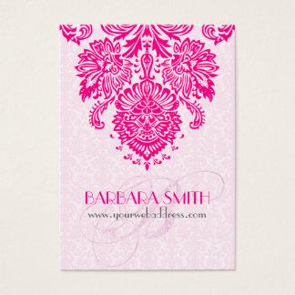 Pink Tint Damasks Hot Pink Floral Ornament