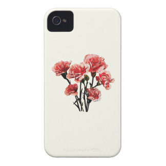 Pink-Tipped Carnations iPhone 4 Covers