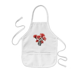 Pink-Tipped Carnations Kids Apron