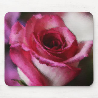 Pink Tipped Rose Mousepad