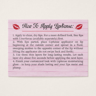 Pink - Tips & Tricks - How To Apply - LipSense Business Card