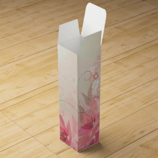Pink Tissue Blossoms - Gift Wine Box