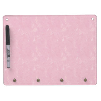 Pink Tissue Dry Erase Board With Key Ring Holder