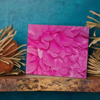 Pink Tissue Paper Flower Texture Plaque