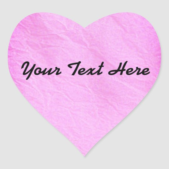 Pink Tissue Paper Heart Sticker | Customise