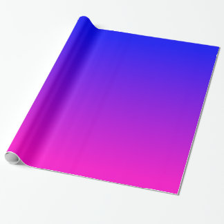 Pink to Blue Gradient Wrapping Paper