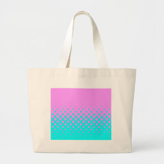 Pink to Blue Large Tote Bag