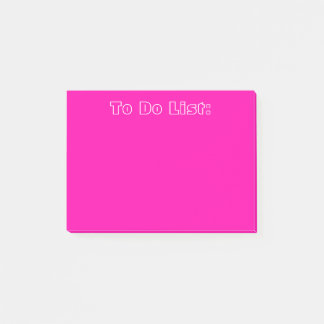 Pink To Do List Post-it Notes