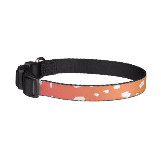 Pink to Orange Spotted Dog Collar