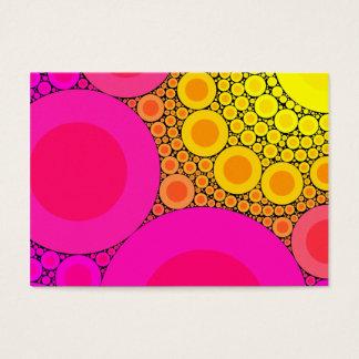 Pink to Yellow Circles Mosaic Business Card