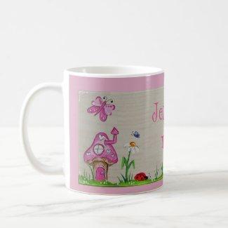 Pink Toadstool Mug