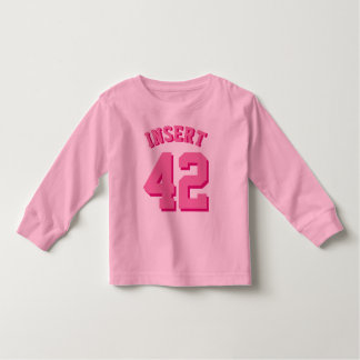 Pink Toddler | Sports Jersey Toddler T-Shirt