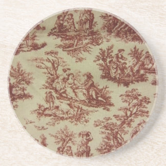 Pink Toile Coaster