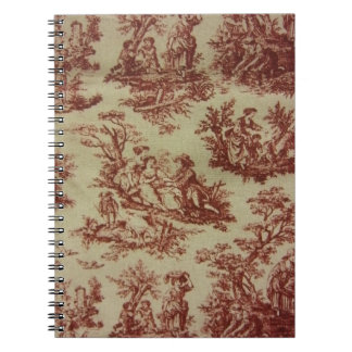Pink Toile Note Book