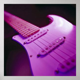 Pink Tone Electric Guitar Close-Up 1 Poster