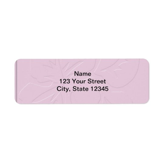 Pink Tone on Tone Hibiscus Return Address Label